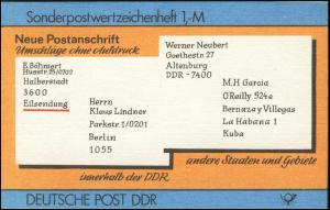 SMHD 33 Postanschrift international mit DDF auf 4.DS: Kerbe im U von DEUTSCHE **