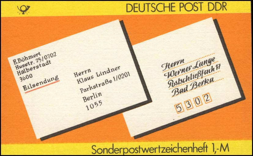 SMHD 34 Postanschrift national - mit VS-O Berlin ZPF 0
