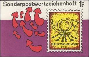 SMHD 40 Briefmarke mit Posthorn - mit VS-O Berlin ZPF
