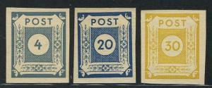 53-55 Freimarken 1945, 3 Werte, Satz **