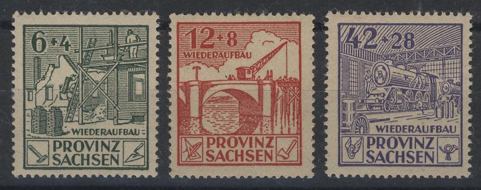 87-89A Wiederaufbau 1946, gezähnt, Satz ** 0