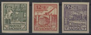 87-89B Wiederaufbau 1946, geschnitten, Satz **