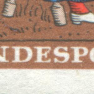 310 Wofa 10 Pf mit PLF geschlossenes E in BUNDESPOST, Feld 16 **