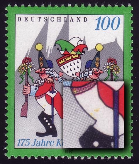 1903I Karneval mit PLF I gelbe Flecken auf linker Hose, Feld 5 ** 0