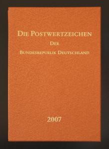 Jahrbuch Bund 2007, postfrisch komplett - wie von der Post verausgabt