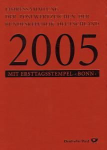Jahressammlung Bund 2005 mit Ersttagssonderstempel