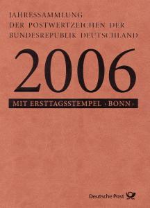 Jahressammlung Bund 2006 mit Ersttagssonderstempel