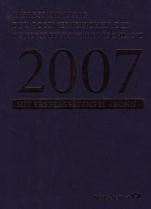 Jahressammlung Bund 2007 mit Ersttagssonderstempel