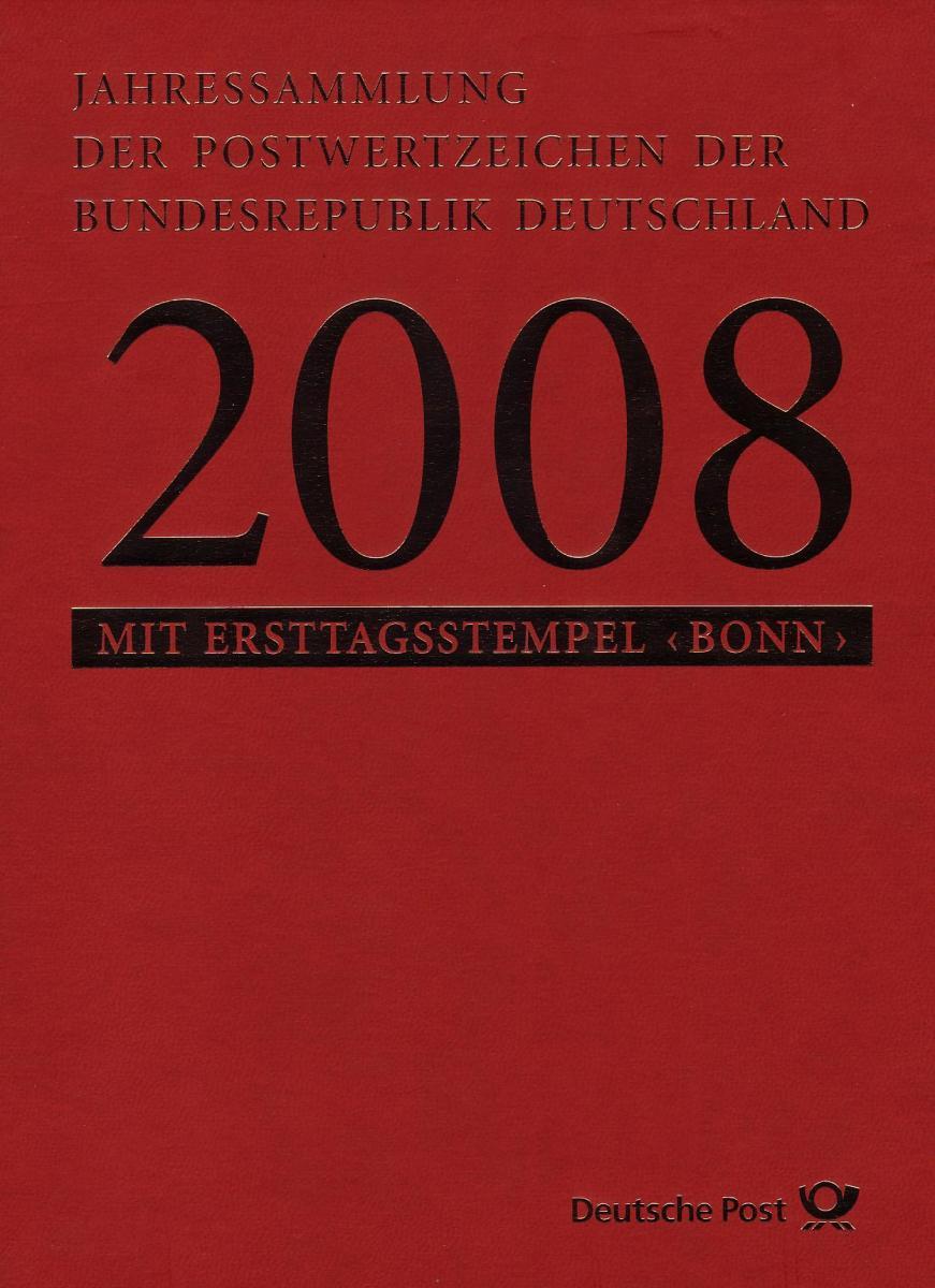 Jahressammlung Bund 2008 mit Ersttagssonderstempel 0