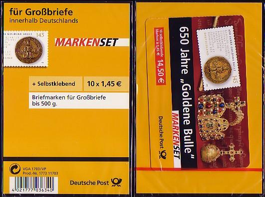 62Ib SB aa MH Goldene Bulle / Blister ohne Label, mit Aufreissband, ** 0