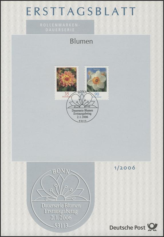 Ersttagsblätter ETB Bund Jahrgang 2006 Nr. 1 - 47 komplett 0