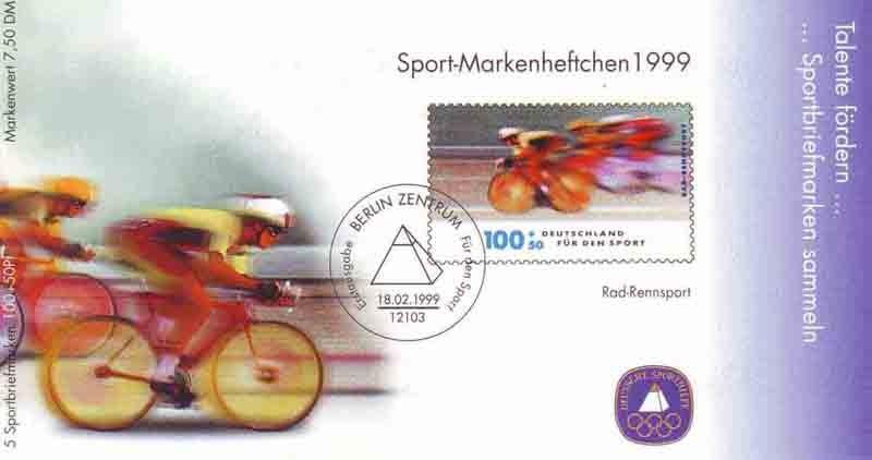 Sport 1999 Radrennsport 100 Pf mit 5x2031 ESSt Berlin 0