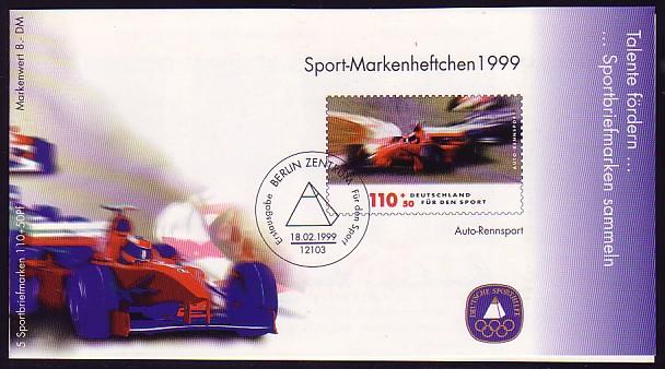 Sport 1999 Automobilrennsport 110 Pf mit 5x2032 postfrisch ** 0