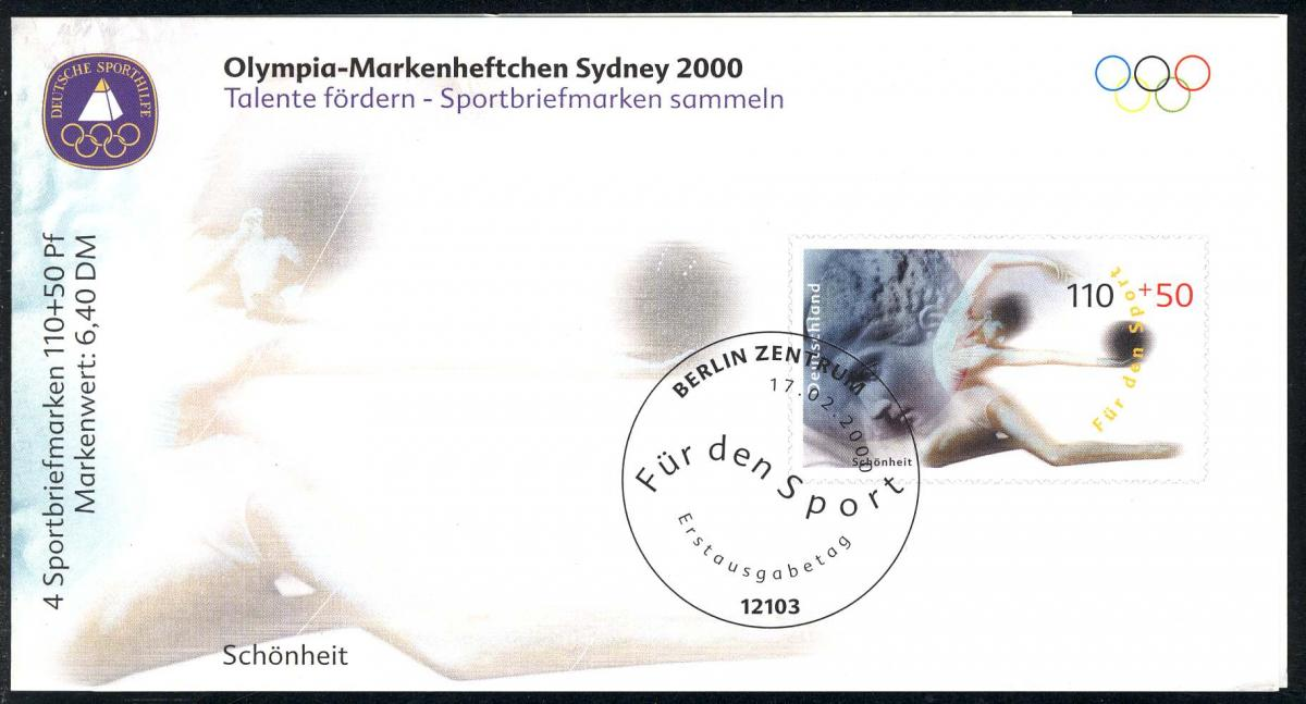 Sport 2000 Schönheit & Gymnastik 110 Pf mit 4x2095, postfrisch 0