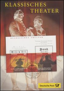 Block 65 Klassisches Theater & Schiller Wilhelm Tell & Goethe Faust -  EB 1/2004