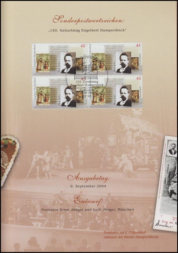 2420 Komponist Engelbert Humperdinck -  EB 6/2004 1