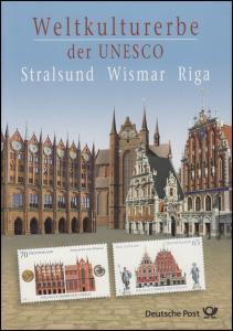 2614-2615 UNESCO-Weltkulturerbe Stralsund, Wismar, Riga - EB 5/2007