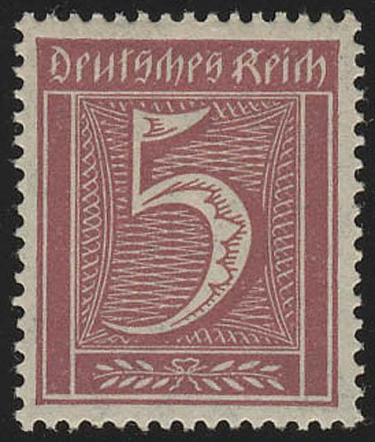 158 Freimarke Ziffern 5 Pf Wz 1, postfrisch ** 0