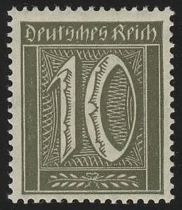 159a Freimarke Ziffern 10 Pf Wz 1, postfrisch **