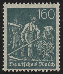 170 Freimarke Arbeiter 160 Pf Wz 1 **