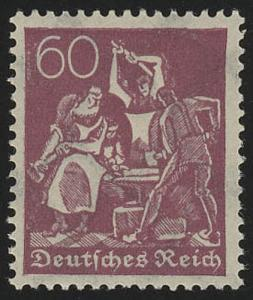 184 Freimarke Arbeiter 60 Pf Wz 2 **