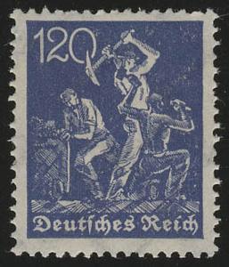 188 Freimarke Arbeiter 120 Pf Wz 2 **