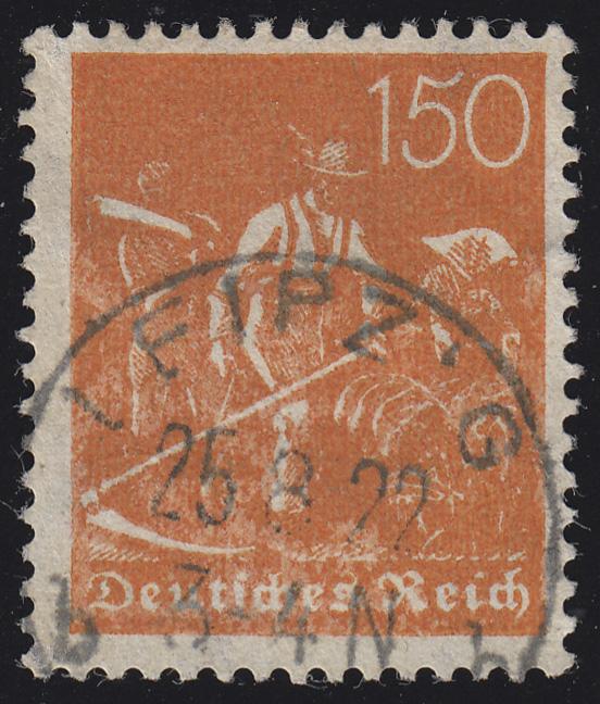 189 Freimarke Arbeiter 150 Pf Wz 2, postfrisch ** 0