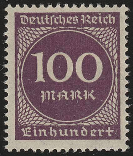 268a Ziffern im Kreis 100 M(ark), postfrisch ** 0