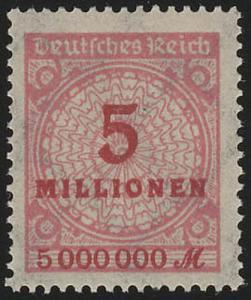 317AP Kreis mit Rosetten-Muster 5 Mio M **