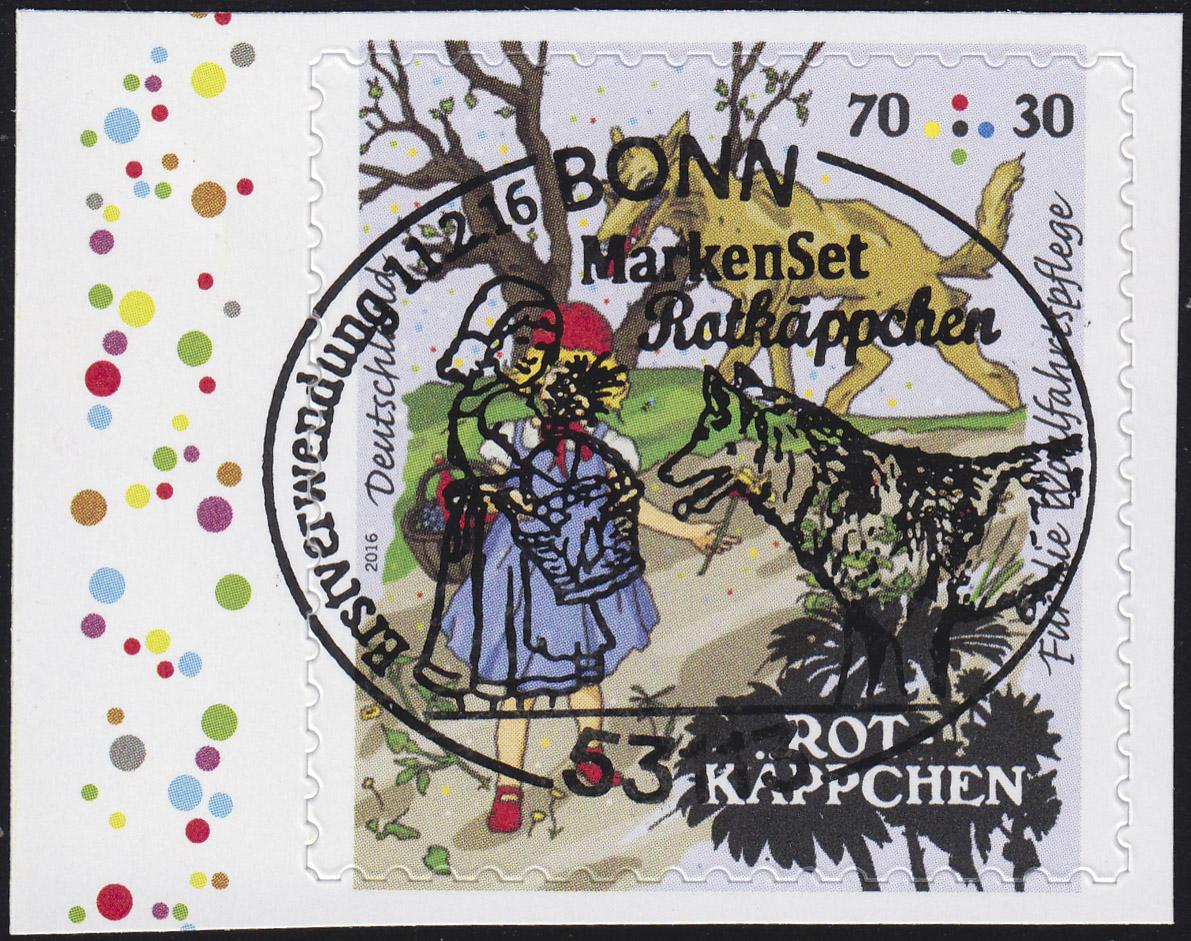 3215 Grimms Märchen - Rotkäppchen 70 C, selbstklebend aus MH 103, EV-O Bonn 0