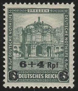 463 Deutsche Nothilfe Bauwerke 6+4 Rpf auf 8+4 Pf **