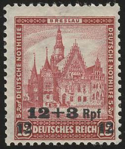 464 Deutsche Nothilfe Bauwerke 12+3 Rpf auf 15+5 Pf **
