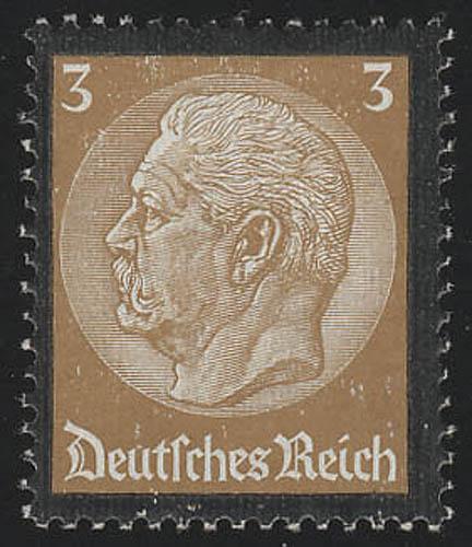 548 Hindenburg Trauerrand 3 Pf ** 0