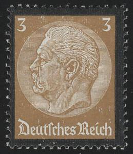 548 Hindenburg Trauerrand 3 Pf **