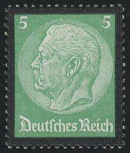 549 Hindenburg Trauerrand 5 Pf **