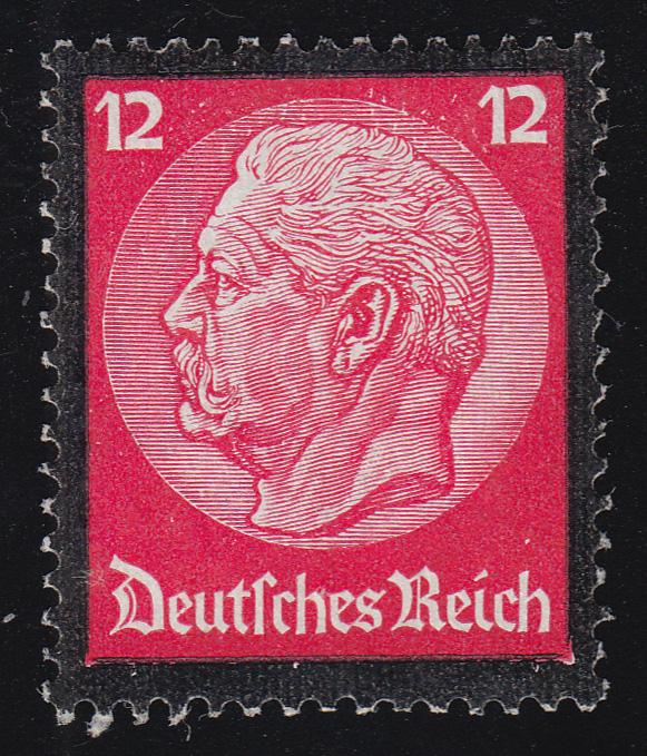 552 Hindenburg Trauerrand 12 Pf ** 0