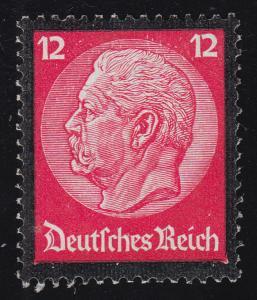 552 Hindenburg Trauerrand 12 Pf **