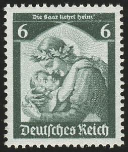 566 1935 Saarabstimmung 6 Pf ** blass (Erstauflage)