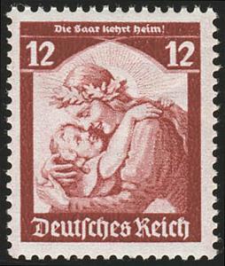 567 1935 Saarabstimmung 12 Pf ** blass (Erstauflage)