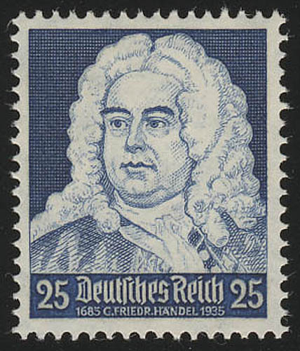 575 Komponisten 25 Pf Händel, postfrisch ** 0