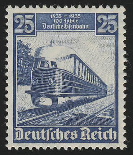 582 Deutsche Eisenbahn 25 Pf - Der fliegende Hamburger, postfrisch ** 0