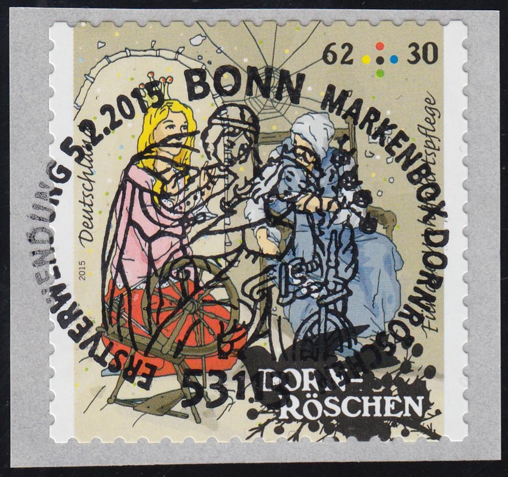 3136 Wofa Grimms Märchen - Dornröschen 62 Cent, selbstklebend von der Rolle O 0