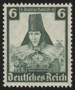 591 Nothilfe Volkstrachten Niedersachsen 6 Pf **
