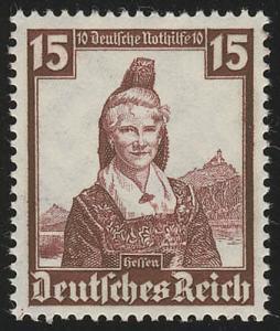 594 Nothilfe Volkstrachten Hessen 15 Pf **