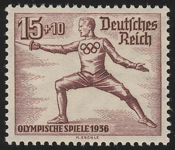 614 Olympische Sommerspiele 15+10 Fechter ** 0