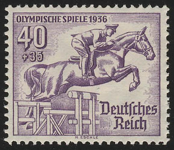 616 Olympische Sommerspiele 40+35 Pf Jagdspringer ** 0