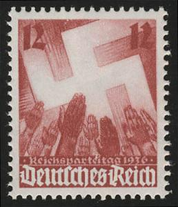 633 Nürnberger Parteitag 12 Pf **