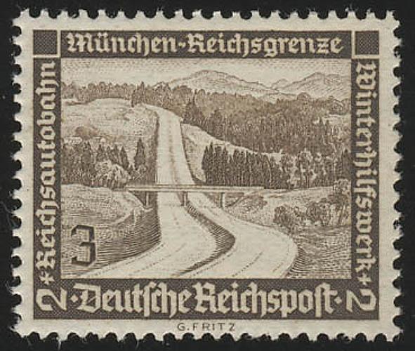634 Winterhilfswerk Reichsautobahn 3 Pf ** 0