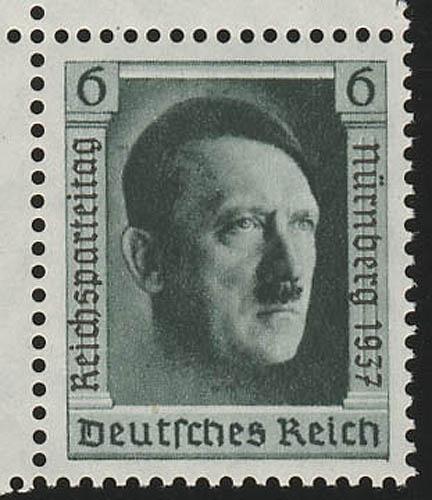 650 Marke mit Aufdruck Reichsparteitag aus Block 11 ** 0