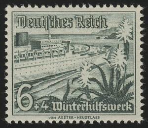 654 Winterhilfswerk Schiffe 6+4 Pf  **